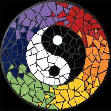 Image result for yin yang mosaic