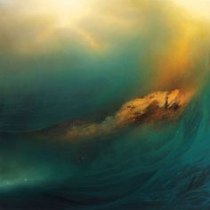 New York, NY artist Samantha Keely Smith 'Vessel'; Oil, Enamel, Shellac on Canvas.