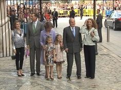 Spanish Royal family attends Easter morning services 4/20/2014