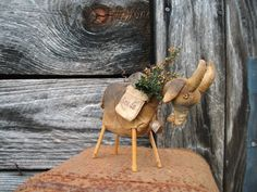 PDF Goat EPattern Primitive Goat  Crow in Seed by CaneRiverCrafts, $8.00