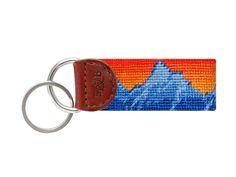 Mountain Sunset Needlepoint Key Fob | Smathers & Branson