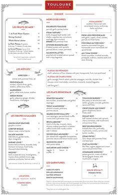 Austin Dinner Menu – Toulouse Cafe and Bar