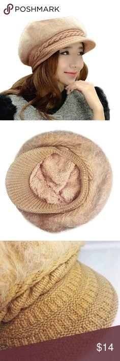 Fashion Women Wool Beret Hat Head Circumference  21 inch - 23.5 inch 03bc68196ada