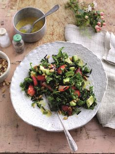 Superfood Strawberry and Pine Nut Salad...
