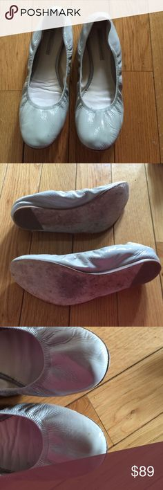 Vera Wang Lavender GRAY Patent Leather Flats Beautiful and super comfortable shoe! Is a true size 10! In great condition! Vera Wang Shoes Flats & Loafers