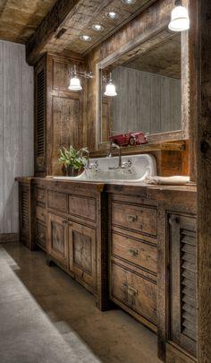 35 Rustikale Badezimmer Eitelkeits Ideen, Zum Ihrer Nächsten Erneuerung  Anzuregen Http:/