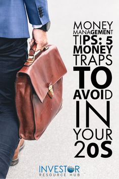 Avoid these five critical money traps in your 20s so you can manage your finances better and make sure you have a less stressful and happier life. #Investing #Moneymanagement Value Investing, Investing Money, Learn Stock Market, Money Management Books, Saving Money Quotes, Best Way To Invest, Dividend Investing, Money Plan, Business Money