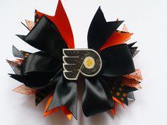 Philadelphia Flyer Hair Bow by bbandbutterflies on Etsy, $5.00