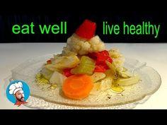 ΤΟΥΡΣΙ χωριάτικο - Συνταγή - YouTube Greek Recipes, Eating Well, Pickles, Healthy Living, Appetizers, Vegetarian, Wellness, Dishes, Meat