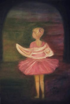 ART Valonen, taideblogi artblog: Vaaleanpunainen balleriina, Iris Valonen, 2015,ölj... #oil #art