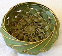 Palm Frond Woven Basket
