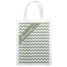 Camouflage Green Chevron Reusable Grocery Bags ...............This design features a Camouflage Green Chevron pattern. The TEXT on both sides can be customized with your own. Check out my store for more colors.