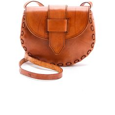 ONE by Ola Cross Body Bag (€110) ❤ liked on Polyvore featuring bags, handbags, shoulder bags, cognac, crossbody, handbags shoulder bags, brown shoulder bag, brown leather handbags, shoulder strap handbags and brown crossbody purse