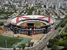 Estadio Monumental in Buenos Aires. Home of River Plate and Argentina.