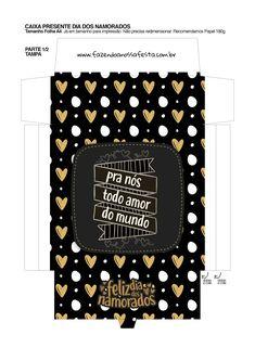 Uau! Veja o que temos para Caixa Dia dos Namorados com Letras de Musicas e Temas pro nos todo amor do mundo_01 Be My Valentine, Diy Paper, Mary Kay, Halloween Diy, Free Gifts, Origami, Kit, Chocolate, Iphone