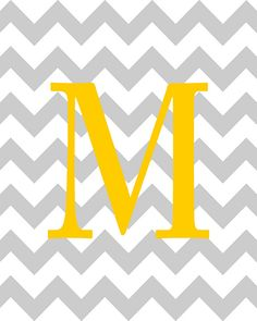 chevron background | Your initial on chevron background - house wedding baby nursery ...