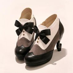 New Womens sweet Bow Stiletos Butler Sebastian Ciel Phantomhive Cosplay Shoes in Clothing, Shoes & Accessories, Women's Shoes, Heels Kawaii Shoes, Kawaii Clothes, Mode Vintage, Vintage Shoes, Cute Shoes, Me Too Shoes, Ciel Phantomhive Cosplay, Lolita Shoes, Bow Boots