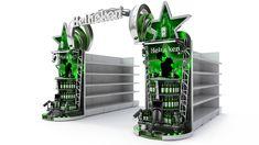 CAMPAÑA HEINEKEN on Behance Adobe Photoshop, Retail Display Shelves, Branding, Display Design, Industrial Design, Vodka, Beer, Rhinoceros 5, Product Display