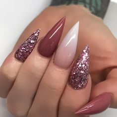 dusty rose nails | gradient nails | manicure | mani Monday | glitter nails