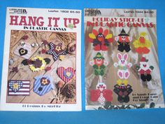 Holiday Stick Ups & Hang It Up in Plastic Canvas Flag Chicken Star Turkey Santa  #LeisureArts