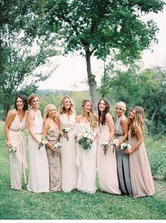 Платья подружек невесты в стиле рустик