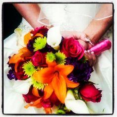 My bright wedding flowers!