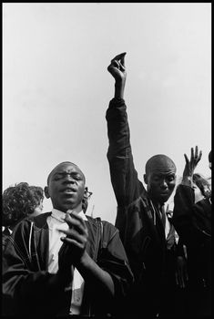 A photograph taken by Danny Lyon on August 28, 1963, during the March on