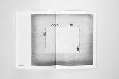 no contents / artwork, typography