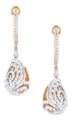 #PieroMilano 18K White & Rose Gold 0.96ct Diamond Dangle Earrings https://www.truefacet.com/catalogsearch/result/?q=piero+milano