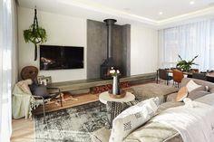 Living Area, Living Spaces, Living Room, The Block Australia, Vogue Living, Banquette, Fireplace Design, Fireplace Ideas, Home Renovation