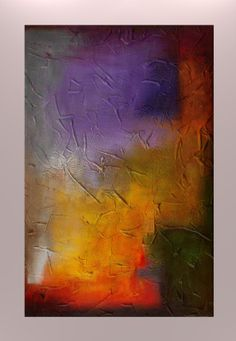 Original Abstract Texture Modern Painting by by JagodaModernArt, $318.00