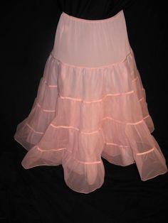 Vintage Pink Tiered Half Slip