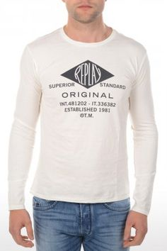 Replay t-shirt M6170 White M6170 2660 563 White » JeansandFashion.com