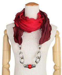 Lungo dell'involucro della sciarpa della collana dei monili delle donne con il pendente in rilievo in ceramica