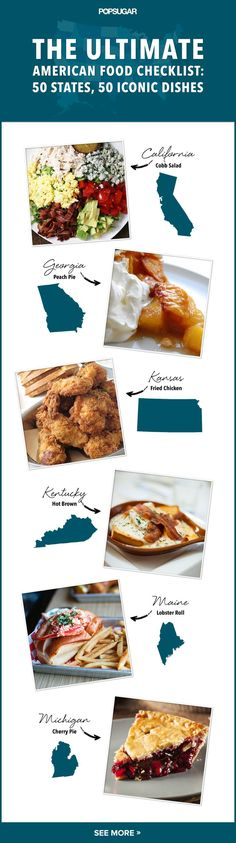 American Regional Food Bucket List...I would love to turn this into a road trip!