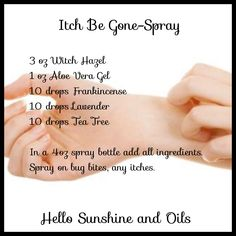 This is by far the best itch remedy I've ever used! I get hives quite often and this works wonders to stop the itch. Excellent for bug bites, dry itchy skin, any itch and the best part, it's all natural. We always have a bottle of this in our house and I keep a small roller bottle of it in my purse. Join FB group Hello Sunshine and Oils for more great tips and DIY projects with Young Living Essential Oils.