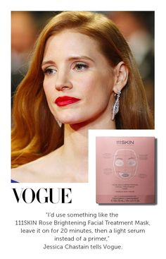 """I'd use something like the 111 Skin Rose Brightening Facial Treatment Mask, leave it on for 20 minutes, then a light serum instead of a primer,"" celebrity make-up artist Mary Greenwell tells Vogue. Beauty Secrets, Beauty Hacks, Best Concealer, Warm Undertone, Facial Treatment, Celebrity Makeup, Jessica Chastain, Beauty Blender, Red Carpet Looks"