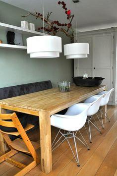 Modern landelijke eetkamer in Odijk na STIJLIDEE's Interieuradvies, Kleuradvies en Styling via www.stijlidee.nl