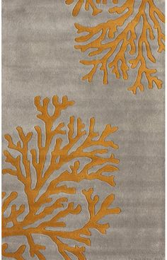 Hand-Tufted Wool NEW Area Rug Modern Grey 8x10 Coral
