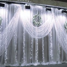 594 LED White String Curtain Lights with 8 Modes Waterproof for Christmas/Thanksgiving | LE®