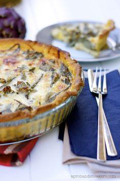 Torta Salata ai Carciofi (Artichoke Quiche) and the Artichoke Festival of Ladispoli @Rowena Dumlao Giardina (Apron and Sneakers)