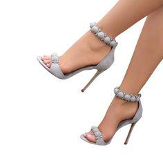 24bdca88156e High Heels Dress Sandals In Grey