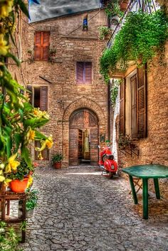 The streets of Italy