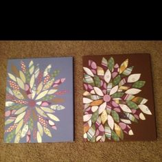 Scrapbook paper flower on canvas, more options!