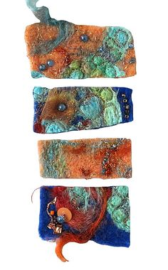 CAROLYN SAXBY MIXED MEDIA TEXTILE ART: Felt/Feltmaking
