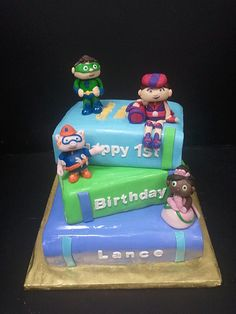 super why birthday cake Super Why Cake, Super Why Party, Super Why Birthday, Birthday Party Tables, 3rd Birthday Parties, Birthday Fun, Birthday Ideas, Birthday Cake, Amelie