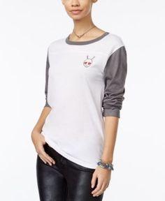 Mighty Fine Juniors' Alien Love Graphic T-Shirt - White XL
