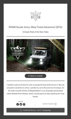 A Sneak Peek of the New Video Forest Adventure, Misty Forest, Suzuki Jimny
