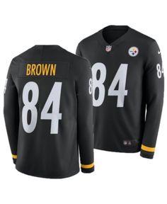 2cf58e5c Nike Men's Antonio Brown Pittsburgh Steelers Therma Jersey - Black