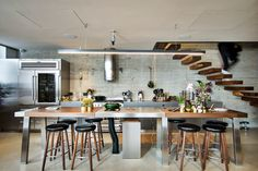 In love with this kitchen island    ron kedmi residence jaffa tel-aviv israel